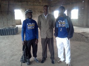 Club Ccycloville Kenya members with MCDC Asst Manager